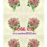 ROSE035 กระดาษแนพกิ้น 21x30ซม. ลายกุหลาบ