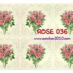 ROSE036 กระดาษแนพกิ้น 21x30ซม. ลายกุหลาบ