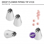 #108 DROP FLOWER PIPING TIP ( 402-108)