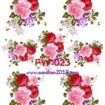 FW023 กระดาษแนพกิ้น 21x30ซม. ลายดอกไม้