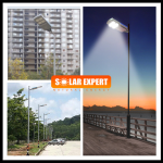 SL03H - โคมไฟถนนโซล่าเซลล์อัจฉริยะรุ่น 30W All-in-one solar street light Hi-Spec