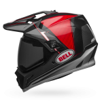 Bell MX-9 Adventure MIPS Gloss Black/Red/White Berm