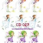 CD027 กระดาษแนพกิ้น 21x30ซม. ลายเด็ก