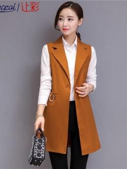 เสื้อกั๊กสูทแฟชั่น เนื้อผ้า Polyester พร้อมส่ง เสื้อกั๊กแฟชั่น เสื้อส้มอิฐ เสื้อสูทแขนกุด สีส้มอิฐ งานสวย คุณภาพดี มีซับใน ใส่สบาย