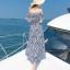 MAXI DRESS ชุดเดรสยาว พร้อมส่ง สีกรม ลายตัดสีขาวเก๋ สวยดูไฮโซมากๆค่ะ ดีเทลระบายเป็นชั้นช่วงคอเสื้อ กระโปรงบานพริ้วๆ ผ่าข้าง thumbnail 3
