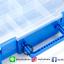 กล่องเก็บเลโก้ สามารถใส่คู่มือพร้อมกันได้ เก็บชิ้นส่วนเลโก้ให้เป็นระเบียบ LOGO BOX สีฟ้า thumbnail 12