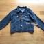 เซ็ตเสื้อแจ็กเก็ตเดนิมทับเสื้อโค้ทตกแต่งฮู้ดขนแกะสีน้ำเงินเข้ม thumbnail 9
