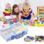 กล่องเก็บเลโก้ สามารถใส่คู่มือพร้อมกันได้ เก็บชิ้นส่วนเลโก้ให้เป็นระเบียบ LOGO BOX สีฟ้า thumbnail 2