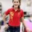เสื้อโปโลสีแดงปักอักษรจีน thumbnail 1
