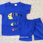 ไซส์ 3-7 ปี เสื้อยืดเด็กสกรีนลาย กางเกงขาสั้น ผ้า Cotton100% ผ้านิ่ม