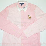 Big pony cotton oxford shirt (new with tag) Col : pink multi