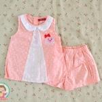 ไซส์ 3-6 เดือน ชุดเสื้อผ้าเด็กผู้หญิง ลายจุดโอรส