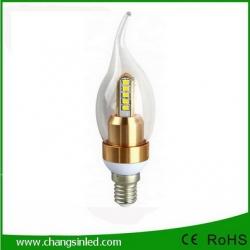 หลอดไฟ LED E14 Crystal Candle Bulb Light Lamp 4W.