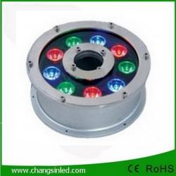 โคมไฟ LED ประดับใต้น้ำพุ 9w RGB