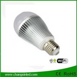 หลอดไฟ LED ไร้สาย Wifi Bulb 9W เปลี่ยนเฉดแสงโทนขาวเป็นโทนวอร์ม