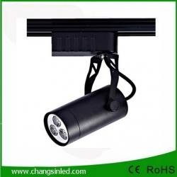 โคมไฟ LED Track Light 3W เป็นชุดโคมไฟใช้กับรางไฟ โคมสีดํา