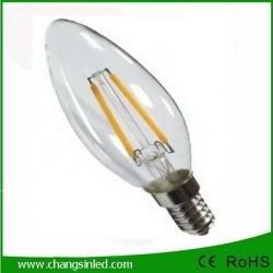 หลอดไฟ LED E14 Crystal Filament Blunt Tip Blub Light lamp 3W