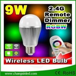 หลอดไฟ LED wifi Bulb 2.4G 9w RGB