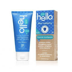 Hello Oral Care Kids Fluoride Toothpaste, Blue Raspberry