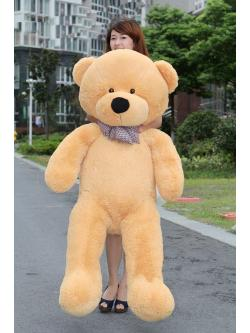 ตุ๊กตาหมี ขนนุ่ม สีน้ำตาลอ่อน ขนาด 1.2 เมตร ส่งฟรี
