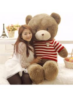 ตุ๊กตาหมีตัวใหญ่ ขนนุ่ม ขนาด 1.4 เมตร ส่งฟรี
