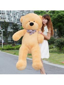 ตุ๊กตาหมี ขนนุ่ม สีน้ำตาล อ่อนขนาด 1.6 เมตร ส่งฟรี