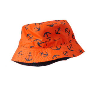 หมวก reversible สีส้ม ใส่ได้ 2 ด้านจาก Oshkosh Size 12-24M