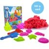 PW127 ทรายนิ่ม Soft Sand Play Sand sweet ทรายคละสี น้ำหนัก รวม 500 กรัม พร้อมอุปกรณ์