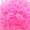 ยางซิลิโคน 100% (ชมพู) 300 เส้น / Silicone Rubber loom 100% (ฺPink)