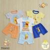 ไซส์ 6-9 9-12 12-18 18-24 เดือน ชุดเสื้อผ้าเด็กเล็ก พร้อมกางเกงขาสั้น ลายการ์ตูน แพ็ค 3 ตัว