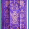 ผ้ายันต์ธงชัยเศรษฐี รวย รวย รวย ขนาด 8 x 12 นิ้ว สีม่วง สกรีนสีทอง