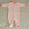 ไซส์ 3-6 เดือน ชุดหมีเด็กแบบคลุมเท้า แขนยาว