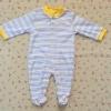 ไซส์ 3-6 เดือน ชุดหมีเด็กแบบคลุมเท้า แขนยาว สีฟ้าเหลือง