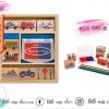 Wooden Vehicle Stamp Set