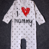 ไซส์ 80 ชุดหมีเด็กขายาว แขนยาว ผ้า Cotton ลาย i love mommy