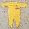 ไซส์ 6-9 เดือน ชุดหมีเด็กคลุมเท้าแขนยาว สีเหลืองลายสิงโต