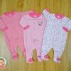 ไซส์ 0-3 3-6 6-9 เดือน ชุดหมีเด็กขายาวคลุมเท้า เซ็ต 3 ตัว สำเนา