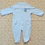 ไซส์ 3-6 เดือน ชุดหมีเด็กแบบคลุมเท้า แขนยาว สีฟ้า Little Bear