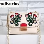 กระเป๋าสะพายข้าง Stradivarius Shoulder Bag หนังเรียบ สีครีม