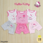 ไซส์ 6-9 9-12 12-18 18-24 เดือน ชุดเสื้อผ้าเด็กเล็ก พร้อมกางเกงขาสั้น ลายคิดตี้ แพ็ค 3 ตัว