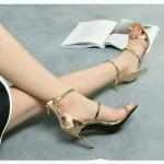 รองเท้าส้นเข็มสูง4นิ้วสไตล์แบรนด์ดัง