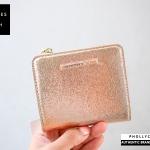 กระเป๋าสตางค์ใบสั้น charles & keith textured square wallet CK6-10700618 ใหม่ 2018
