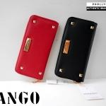 กระเป๋าสตางค์ Mango Saffiano Effect Wallet with Studded แต่งมุด หนังสุดหรู New Collection 2015 ยี่ห้อ MANGO แท้ สีแดง