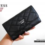 กระเป๋าสตางค์ใบยาว Guess Wallet Quilted Detail หนังสามเหลี่ยม ทรงยาว สุดหรู