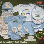 เซทเด็กเล็ก 14 ชิ้น สีฟ้า ไซส์ 0-3 เดือน