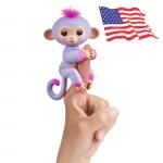 DA012 (ของแท้) wowwee Two Tone fingerling ตุ๊กตาลิง มีชีิวิต -สีม่วง