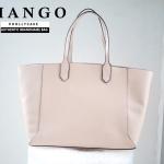 กระเป๋าสะพายไหล่ MANGO POCKET SHOPPER BAG หนังเรียบ สุดหรู ยี่ห้อ MANGO Shopper bag ของแท้