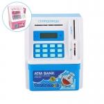 KA059 กระปุกออมสินตู้เซฟ ATM ดูดแบงค์ มี ATM เท่าบัตรของจริง ลาย โดเรม่อน