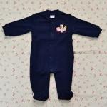 ไซส์ 3-6 เดือน ชุดหมีเด็กแบบคลุมเท้า แขนยาว สีน้ำเงิมเข้ม