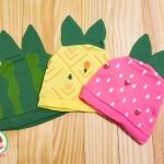 ไซส์ 0-3 เดือน หมวกเด็กพิมพ์ลาย แพ็ค 3 ใบ สำเนา